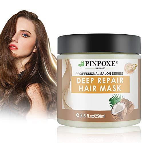 Haarmaske, Hair Mask, Conditioner Haarkur, Argan oil & Keratin Haarkuren strapaziertes und trockenes Haare, Hair Mask für gefärbte Haarpflege & Haarglättung, 250 ml
