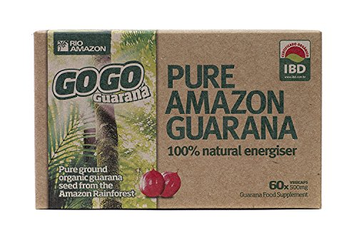 Rio Amazon 500mg GoGo Guarana - Vegetable Capsules by Rio Trading