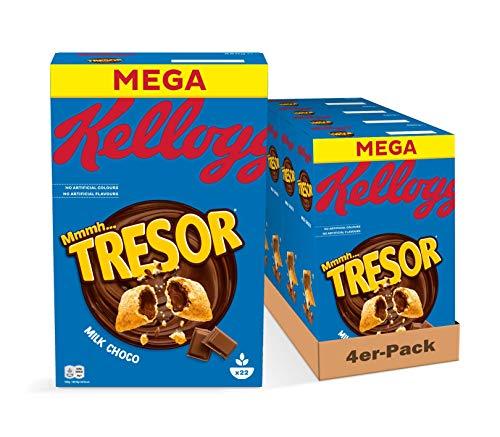 Kellogg\'s Tresor Milk Chocolate Cerealien   4er Vorratspack   4 x 660g