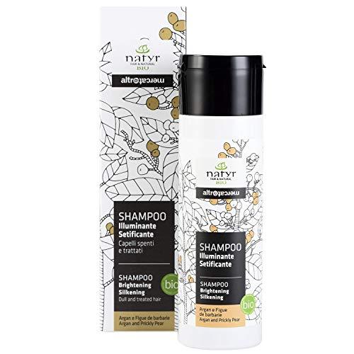 Natyr Bio Pflege-Shampoo mit Arganöl und Feigenkaktus 200 ml - Glanzpflege für...