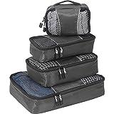eBags Classic Small/Medium Packing Cubes for Travel - Organizers - 4pc Set - (Titanium)