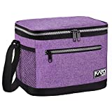 Insulated Lunch Bag for Women Men, Leakproof Thermal Reusable Lunch Box for Adult & Kids by Tirrinia, Lunch Cooler Tote for Office Work, Purple