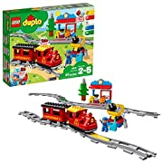 Build aPush & Go steam train track toywith 16 track pieces and action bricks, and use theapp functionalityfor fun activities and remote-control via your own device! This electricremote control train building setincludes 59 LEGO DUPLO pieces, Ea...