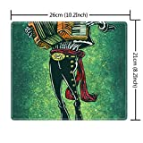 Large Gaming Mouse Pad Printing Designed Rectangle Mouse Pad for Boys Girls Mexican Skeleton Musician Sugar Skull Musician Crow Zombie Accordion Music Skeleton with hat (260mm210mm3mm) Series