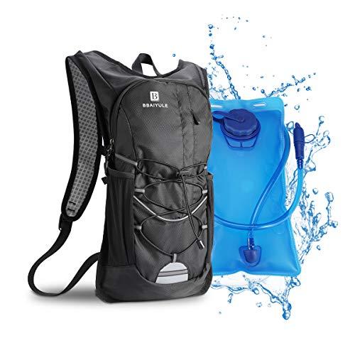 BBAIYULE Trinkrucksack mit Trinkblase 2L Trinkrucksack Fahrradrucksack zum Laufen Radfahren Radfahren Wandern Klettern Skifahren Jagdbeutel, Wasserrucksack mit Trinksystem für Männer und Frauen