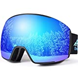 Ski Goggles Pro, Magnetic Snowboard Goggles, Interchangeable Lens, Snow Goggles for Women Men Youth,...