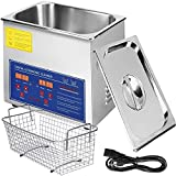 VEVOR 3L Ultrasonic Cleaner Ultrasonic Parts Cleaner Stainless Steel Professional Ultrasonic Jewelry Cleaner with Heater Timer(3L)