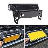 KKmoon License Plate Frame Holder Universal Carbon Fiber Car License Plate Frame Holder Racing Style Angle Adjustable Relocate Bracket