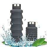 OSVAW Bouteille d'eau Pliable en Silicone De Qualité Alimentaire BPA sans...