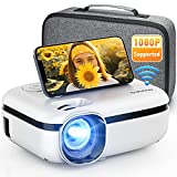 MOOKA WiFi Projector, 7500L HD Outdoor Mini Projector with Carrying Bag, 1080P & 200' Screen...