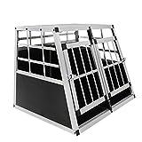 MCTECH Box per Trasporto Animali Cani - Auto Viaggio Box Trasporto in Alluminio 89 x 69 x 51 cm (Doppio Piccolo)