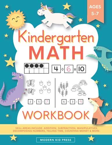 Kindergarten Math Workbook: Kindergarten and 1st Grade...