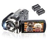 Video Camera Camcorder Digital Camera Recorder kicteck Full HD 1080P 15FPS 24MP 3.0 Inch 270 Degree...