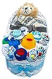 New Baby Bassinet Gift Set (Blue)