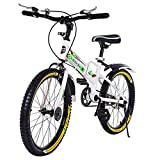 LINMOUA 20in Foldable Bicycle for Children Folding City Bike with Back Seat Aluminum Frame Bicycles Adult Students Ultra-Light Portable Women's City Mountain Cycling [Fast Delivery from The U.S.]