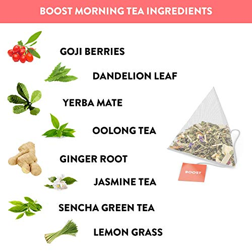 Skinny Tea 28 Day Detox Tea for Weight Loss and Reduced Tummy Bloating: The Original 2-Step Detox Tea Program Includes 28 Morning Boost & 28 Evening Cleanse Pyramid Tea Bags 6