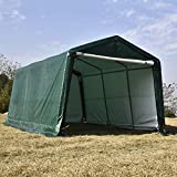 Bestmart 10x15ft Heavy Duty Green Carport Portable Garage Storage Shed Canopy