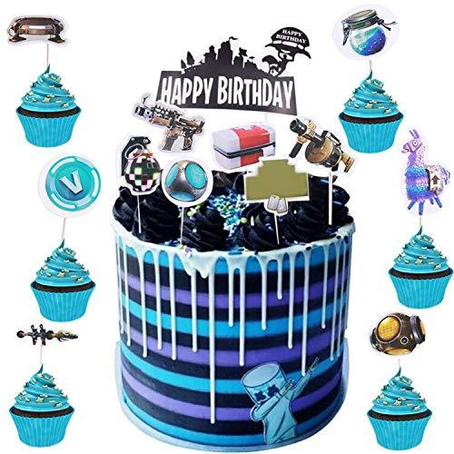 BESLIME Suministros para Fiestas de Magdalenas para Cumpleaños 25pcs Cupcake Toppers, Party DIY Décor Suministros
