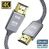 Câble HDMI 4k Ultra HD[2m],Câble HDMI 2.0 en Nylon Tressé avec Ethernet...