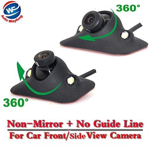 Auto Wayfeng WF CCD visione notturna 360 gradi auto vista posteriore/anteriore telecamera retromarcia telecamera 2 LED