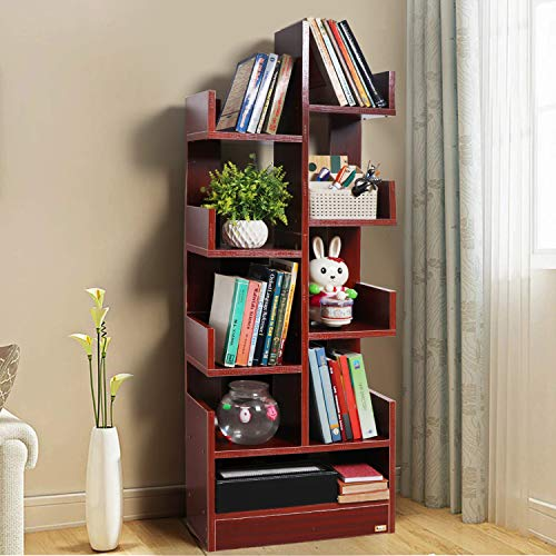 Kurtzy DIY Book Shelf Wall Mounted Heavy Duty Invisible Shelves Storage Display Cabinet Rack
