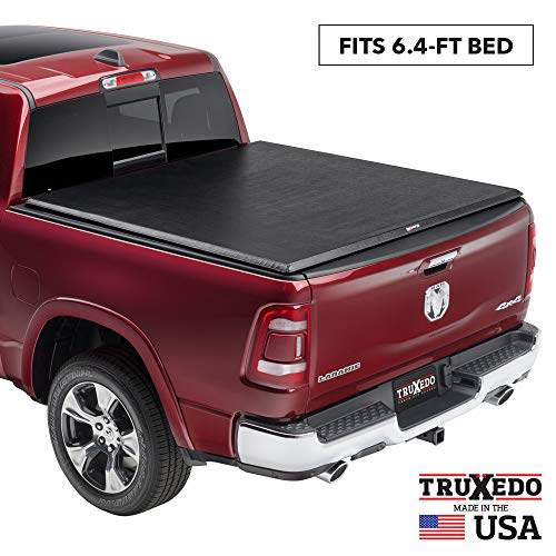 TruXedo TruXport Soft Roll Up Truck Bed Tonneau Cover | 286901 | fits 2019 - 2020 New Body Style Ram 1500 with or without Multi-Fucntion (Split) Tailgate 6'4' bed