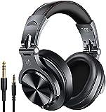OneOdio A70 Cuffie Wireless Bluetooth, 50 ore di riproduzione, Cuffie Stereo Over Ear con Microfono CVC 6.0, Cuffie Professionali per Missaggio Monitor da Studio per Cellullari, PC, iPad, TV