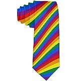 Cravates en polyester garçon agitant cravate costume de soirée de fierté LGBT drapeau mode