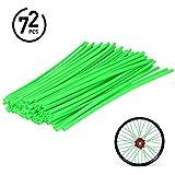 72Pcs Universal Spoke Skins Cover - Ovelur Wheel Spoke Wraps Skins Pipe Trim Decoration Protector For Motorcycle Dirt Bike Yamaha Honda Harley Suzuki(Green)