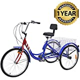 Slsy Adult Tricycles 7 Speed,...