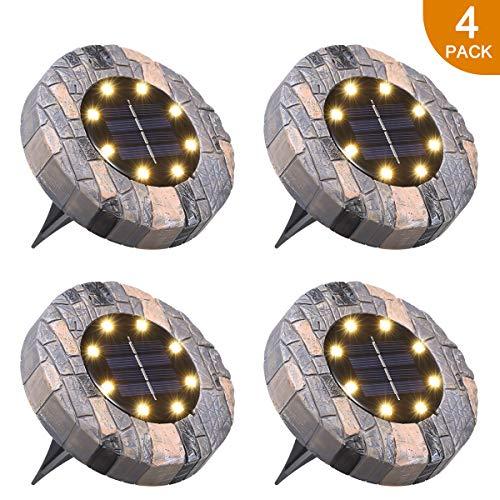 Luci Solari Giardino Tomshine 8 LED Luci led Solari da Esterno Faretti Solari a LED da Esterno IP65...