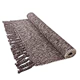 USTIDE Hand Woven Braid Rug Cotton Rag Rug Laundry Room Floor Runner, Washable Porch Rug Farmhouse Rug 23.6'x51'