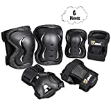 JBM Kids Knee and Elbow Pads with Wrist Guards Protective Gear Set, Impact Resistance for Your Children Outdoor Activities Adventure, Roller Skating, Cycling, Scooter, Skateboarding Pads Set