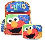 Sesame Street Elmo School 16' Large Backpack Lunch Bag Set :Ha Ha