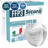 10 Mascherine Protettive FFP3 Certificate CE. Made in Italy. Mascherine sigillate singolarmente.