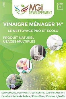 QUALIPRO Aceto bianco 14°, qualità professionale, per pulire, sgrassare e rimuovere il calcare - 5 l