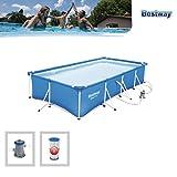 Bestway Steel Pro Frame Pool Set, rechteckig, blau, 400 x 211 x 81 cm - 4