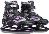 Ultrasport Pro-Skater Patins à glace mixte adulte Noir/Violet 38-39 cm