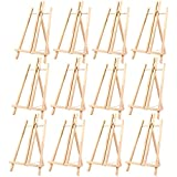 Wood Easels, Standing Easels for Painting, Art, and Crafts (9 x 14.8 in, 12-Pk)