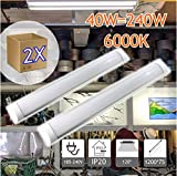 Jandei - Lot de 2 réglettes Led mince, 40W 3600 lum blanc froid 6000K pour...