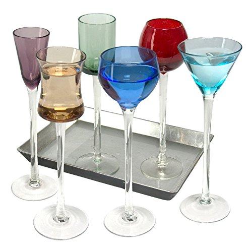 Set Artland di 7 bicchieri da liquore a stelo lungo