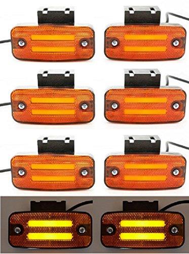 8 x 24V LED arancione neon contorno laterale luci con staffe rimorchio telaio camion caravan bus