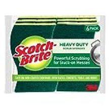 Scotch-Brite Heavy Duty Scrub Sponges, 6 Scrub Sponges, Stands Up to Stuck-on Grime