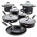 Anolon 84543 Advanced 14-Piece Cookware Set, 2.3, black