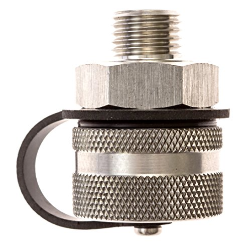 ValvoMax Stainless Oil Drain Valve - No Tools, No Mess, Fast Drain - for M14-1.50 - Stainless Drain Hose Attachment