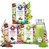 NUTRIBOBA Superfood Weight Loss Matcha, Chocolate & Coffee Latte Bundle, Energy & Stress Relief - Complete Vegan Protein Gluten-Free Meal Supplement, Hot/Cold Bubble Tea, 30 Lattes + Blender Bottle