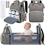 DEBUG Baby Diaper Bag Backpack with Changing Station Diaper Bags for Baby Bags for Boys Diaper Bag...