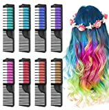Lictin Craie Pour Cheveux 8pcs Coloration Temporaire Cheveux Craie Non Toxique...