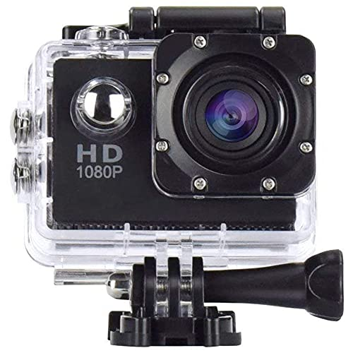 LUOSHEN Action Camera 1080P 12MP Sport Camera Full HD 2.0 Pollici Action Cam 30M/98Ft Subacquea Impermeabile Snorkeling Surf