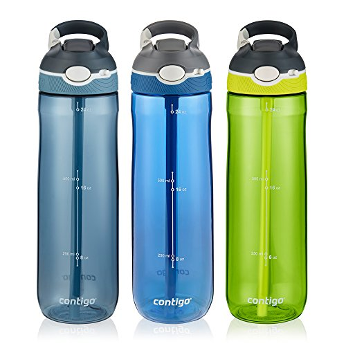 Contigo AUTOSPOUT Straw Ashland Water Bottle, 24 oz, Stormy...